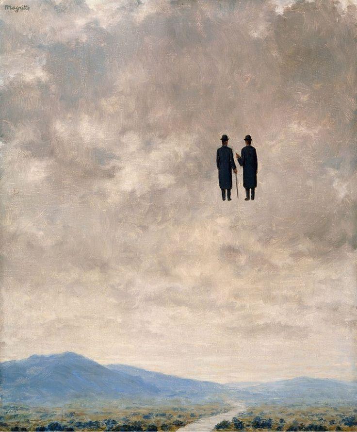 """""""L'Art de la Conversation, 1963.  René Magritte (Bélgica, 1898-1967)."""